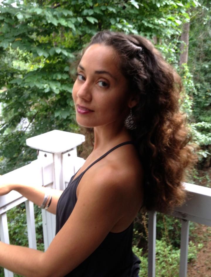 braidout on long natural curls
