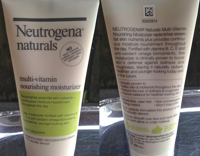 Neutrogena Natural Facial Moisturizer | Petroleum and Paraben Free Skin Care