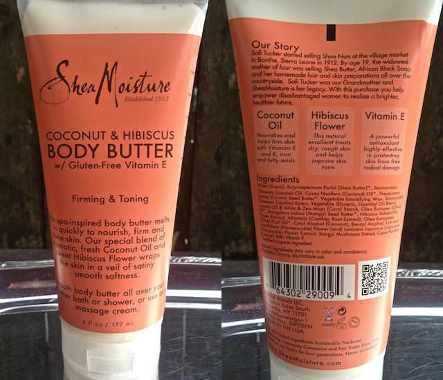 Shea Moisture Body Butter | Petroleum and Paraben Free Skin Care