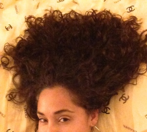 satin scarf or pillowcase to protect curls at night