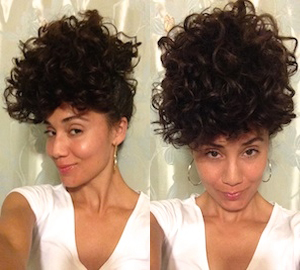 pineapple method for curly hair