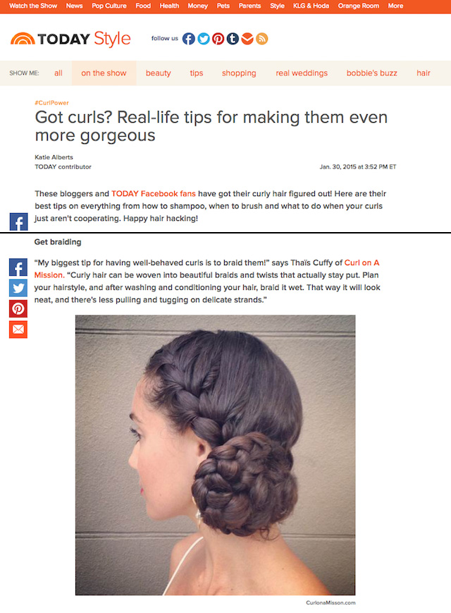Curl on a Mission on TODAY.com