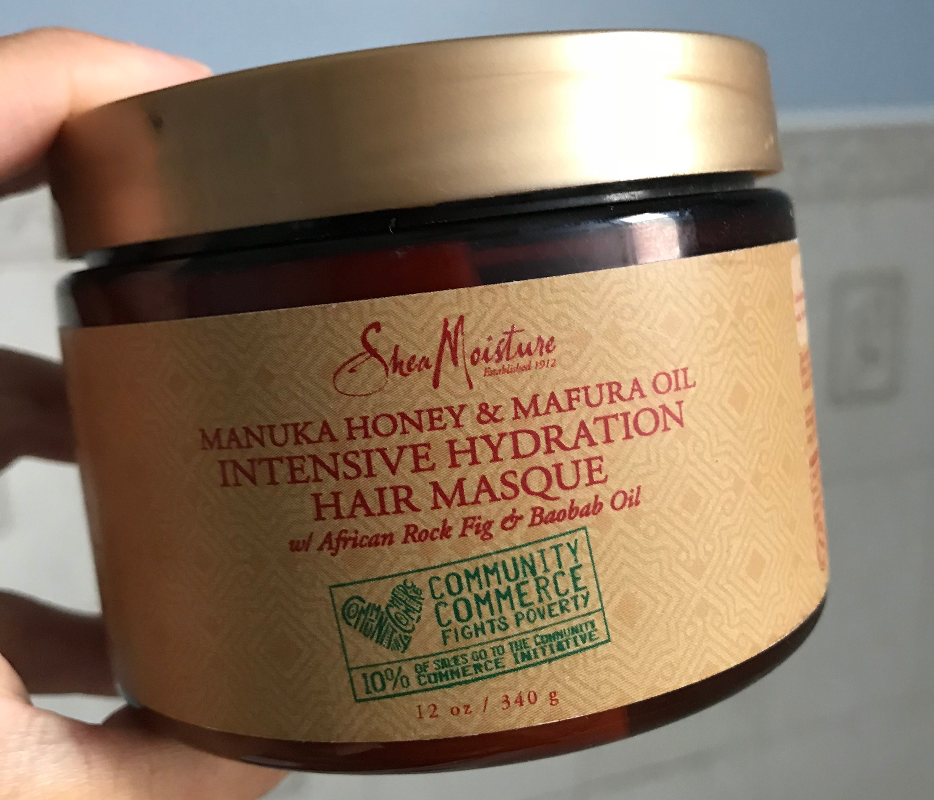 Review of Shea Moisture Manuka Honey and Mafura Oil Intensive Hydration Masque